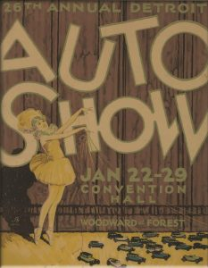 1927 auto show poster