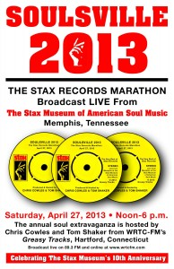 "Live from Memphis: A promo poster about the fourth-annual ""Soulsville"" special -- a six-hour broadcast from Memphis in 2013."