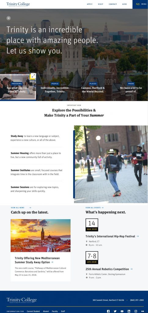 Round Two Homepage Design