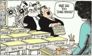 Cartoon about public schools