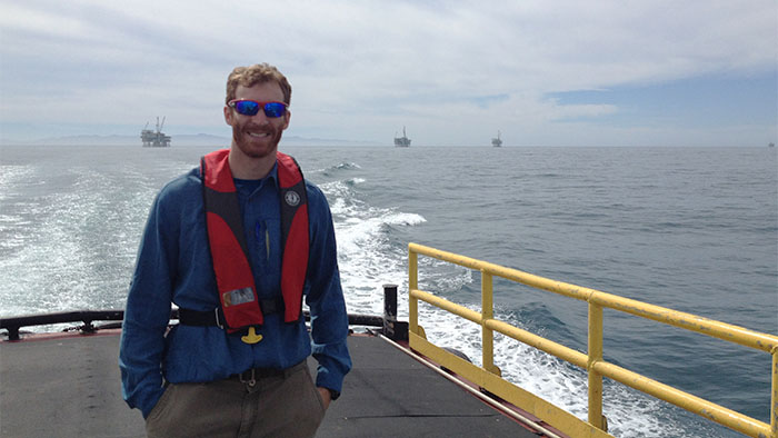 Agent Colby at an undisclosed location off the coast of California.