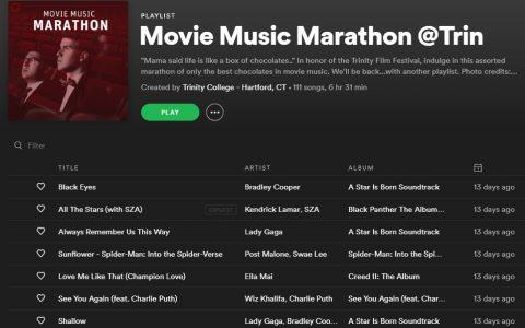 Movie Music Marathon @Trin