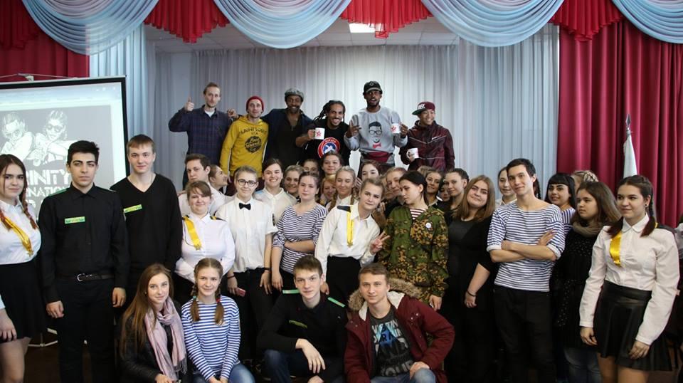 US Delegation with High School Students in Togliatti, Russia