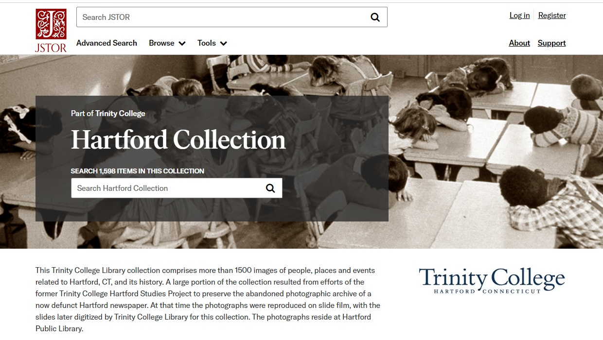 Hartford Collection page in JSTOR