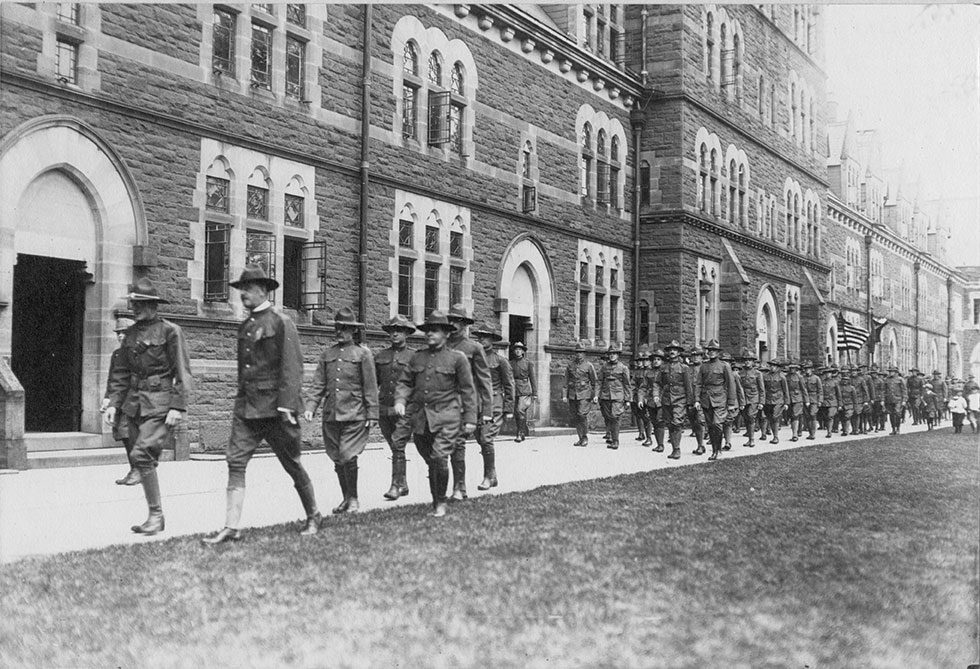 student-soldiers on the Long Walk