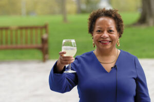 3.President Joanne Berger-Sweeney offers a lemonade toast to the class.
