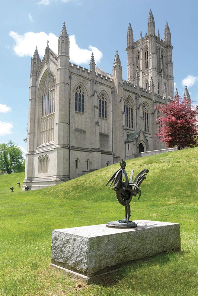 chapel and Bantam sculpture