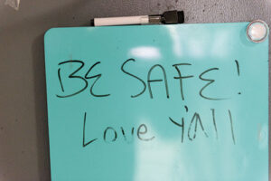 """message """"be safe love y'all"""""""
