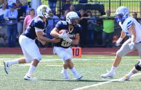 Football Overcomes Early Deficit to Defeat Tufts