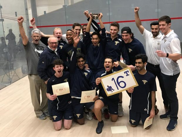 Men's Squash Wins 16th National Title
