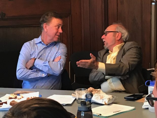 Ned Lamont, Democrat for Governor, Visits Trinity